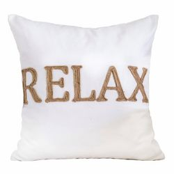 Homey Cozy Relax Embroidered Decorative Pillow
