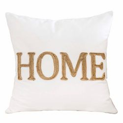Homey Cozy Home Embroidered Decorative Pillow