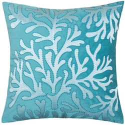 Homey Cozy Velvet Coral Reef Decorative Pillow