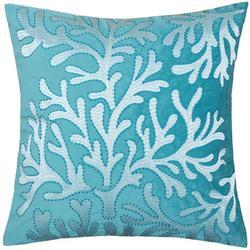 Velvet Coral Reef Decorative Pillow