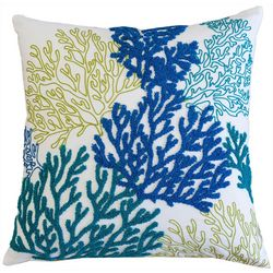 Homey Cozy Embroidered Coral Reef Decorative Pillow