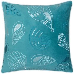 Homey Cozy Embroidered Velvet Shell Decorative Pillow