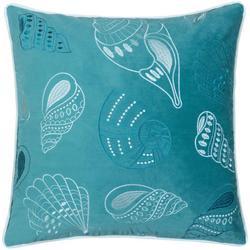 Embroidered Velvet Shell Decorative Pillow