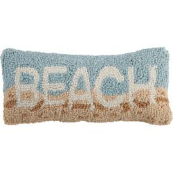 Beach Hooked Decorative Pillow