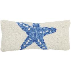 Sea Star Hooked Decorative Pillow