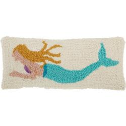 Mermaid Hooked Decorative Pillow