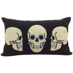 Skull Trio Decorative Pillow