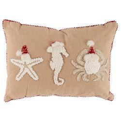 Starfish Seahorse Crab Decorative Pillow