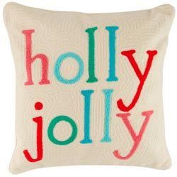 Brighten the Season Holly Jolly Decorative Pillow