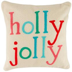 Holly Jolly Decorative Pillow