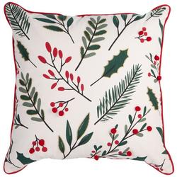 Holly Berries Decorative Pillow