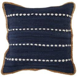 LR Resources Bubble Stripe Braided Trim Decorative Pillow