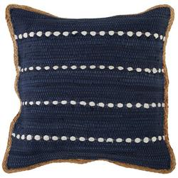 Bubble Stripe Braided Trim Decorative Pillow