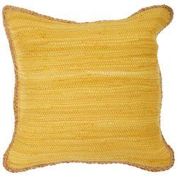 LR Resources Solid Braided Trim Decorative Pillow