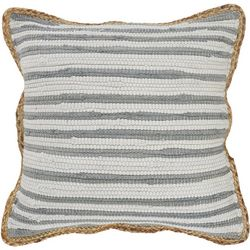 LR Resources Stripe Braided Trim Decorative Pillow