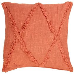 LR Resources Cross Tuffed Decorative Pillow