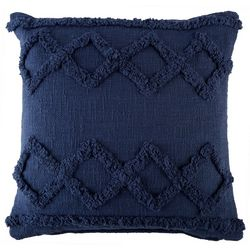 LR Resources Diamond Row Tuffed Decorative Pillow