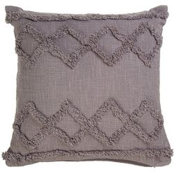 LR Resources Diamond Row Tuffed Decorative Pillow