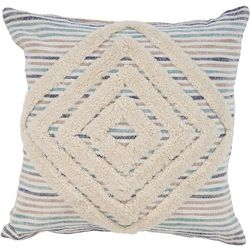 LR Resources Diamond Tuffed Stripe Decorative Pillow