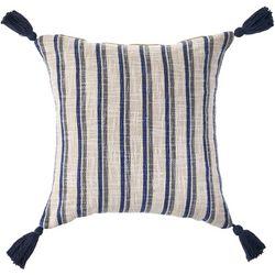 LR Resources Stripe Tassel Decorative Pillow