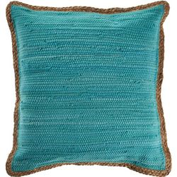 LR Resources Solid Braided Trim Decorative Pillow