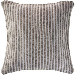 LR Resources Stripe Embroidered Decorative Pillow