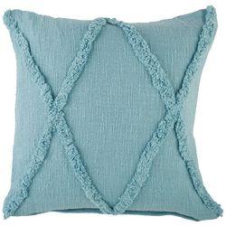 LR Resources Cross Tuffed Decorative Pillow