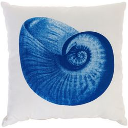 Sea Shell Print Decorative Pillow
