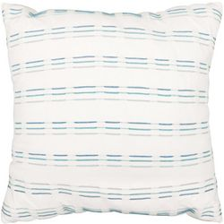 Embroidered Stripe Decorative Pillow