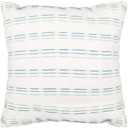 Embroidered Stripe Decorative Pillow