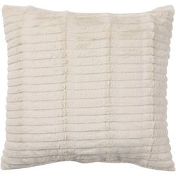 Brentwood Ribbed Stripe Plush Decorative Pillow