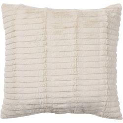 Ribbed Stripe Plush Decorative Pillow