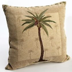 Panama Chenille Palm Tree Pillow