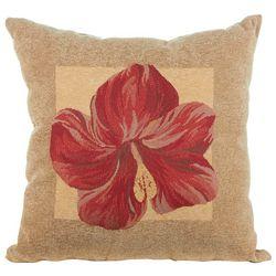 Panama Hibiscus Decorative Pillow