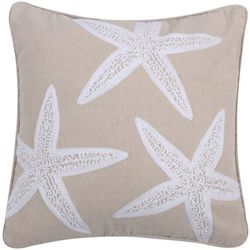 Levtex Home Starfish Applique Decorative Pillow