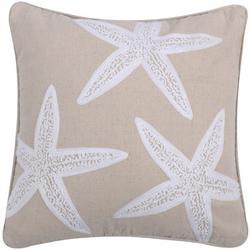 Starfish Applique Decorative Pillow