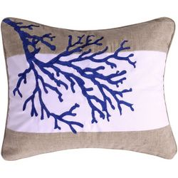 Levtex Home Coral Embroidered Decorative Pillow