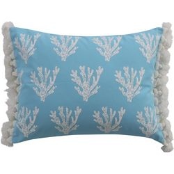 Levtex Home Coral Tassel Trim Decorative Pillow