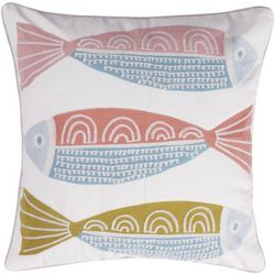 Levtex Home Stitched Fish Decorative Pillow