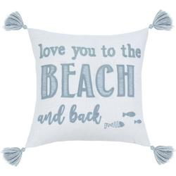 Love You To The Beach Decorative Pillow