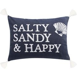 Saltwater Home Salty Sandy & Happy Decorative Pillow