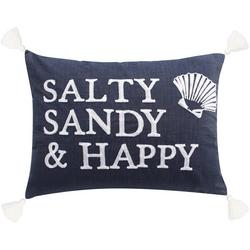 Salty Sandy & Happy Decorative Pillow
