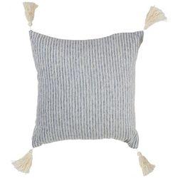 Deco Rib Woven Striped Tassel Decorative Pillow
