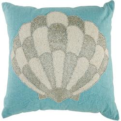 Beaded Shell Decorative Pillow