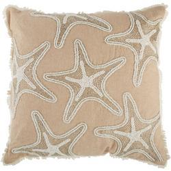 Beaded Starfish Decorative Pillow