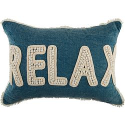 Coastal Home Embroidered Relax Decorative Pillow