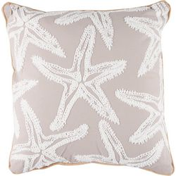 Brighten the Season Starfish Embroidered Decorative Pillow