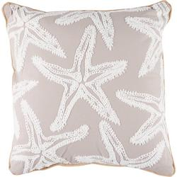 Starfish Embroidered Decorative Pillow
