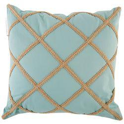 Brighten the Season Diamond Rope Decorative Pillow