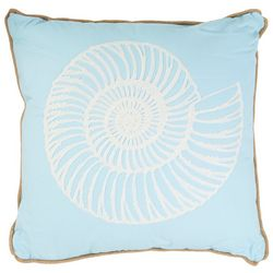 Enchante Seashell Jute Decorative Pillow